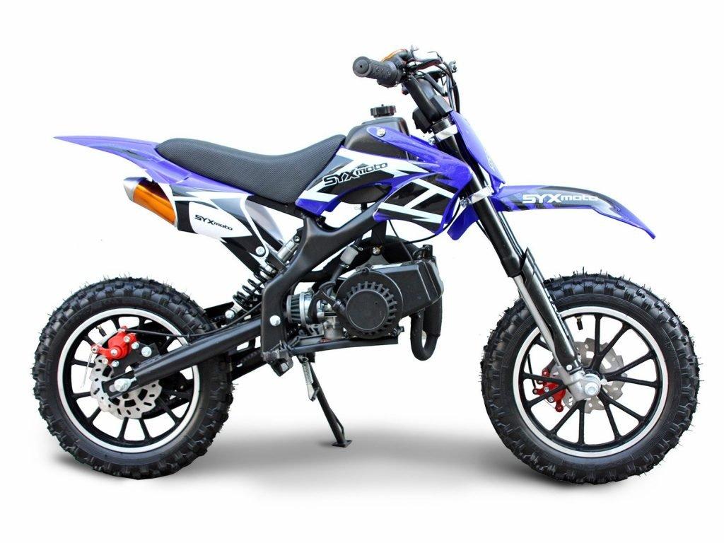 SYX MOTO Kids Mini Dirt Bike Gas Power 2-Stroke 50cc